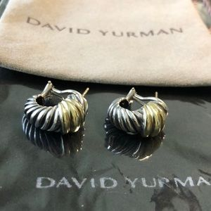 David Yurman gold and silver earrings 🎀